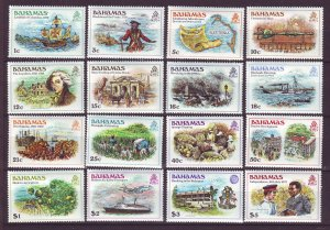 J24184 JLstamps 1980 bahamas set mlh/mh #464-79 designs