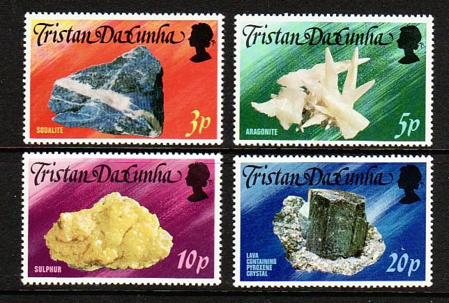 Tristain Da Cunha 239-42 MNH 1978 Local Minerals Complete Set VF