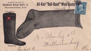 1897, 1c Blue Bureau W/Cork Cancel & Mishawaka, IN Cancel, See Remark (BR4165)