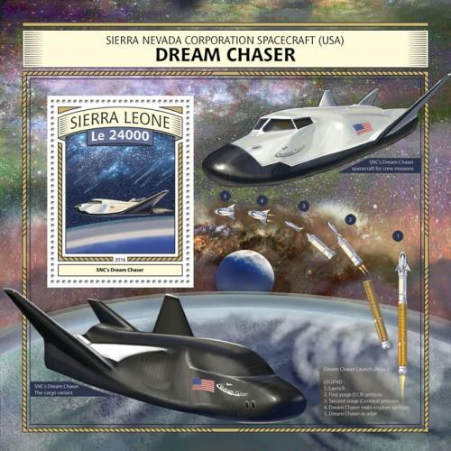 SIERRA LEONE - 2016 - Dream Chaser Spaceplane - Perf Souv Sheet - MNH