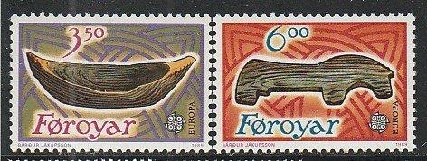 1989 Faroe Islands - Sc 191-2 - MNH VF - 2 single - Europa