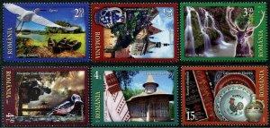 HERRICKSTAMP NEW ISSUES ROMANIA Sc.# 5974-79 Tourism Railway, Birds, Waterfall