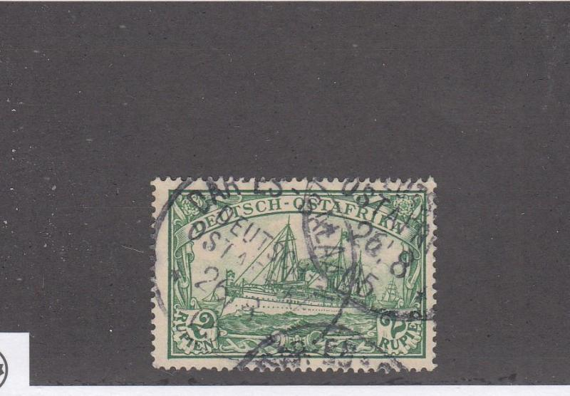 GERMAN EAST AFRICA LOT # 20 VF-DARES SALAM CANCEL COLLECTED FOR PMKS CV $80