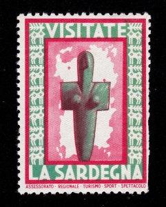 REKLAMEMARKE POSTER STAMP VISITATE LA SARDEGNA CIRCA 1950 MNH-OG