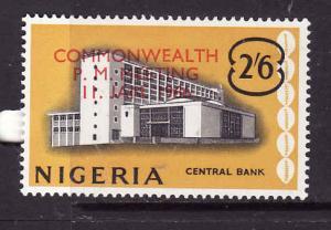 Nigeria-Sc#198-unused hinged set-Commonwealth Meeting-1966-