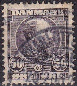 Denmark #68  F-VF Used CV $120.00  (V4621)