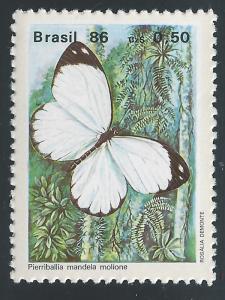 Brazil #2050 50¢ Butterflies - Pierriballia Mandel Molione