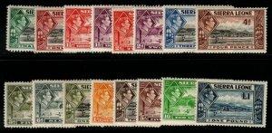 SIERRA LEONE SG188/200 1938-44 DEFINITIVE SET MTD MINT