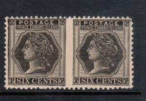Prince Edward Island #15a Very Fine Never Hinged Imperforate Pair