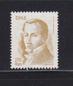 Chile 483A MNH Diego Portales, Finance Minister (A)
