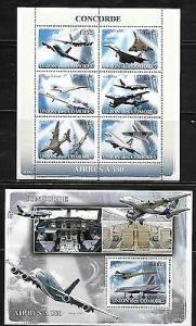 Comoro Islands 1025-26 AircraftMint NH