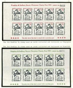 GB Middx Wembley BEE Scout Mail Stamps Original Album Page 1983 {samwells} AG317