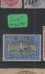 TONGA  (PP2612B)  2/-   BOAT   SG 51  MOG