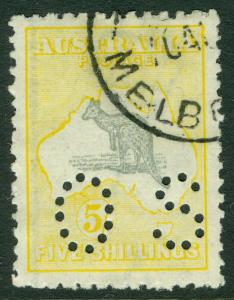 AUSTRALIA : 1913. Stanley Gibbons #O12 Choice & Very Fine Used stamp. Cat £700.