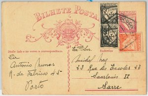 46486 - PORTUGAL - POSTAL HISTORY - POSTAL STATIONERY CARD with STAMPS to SARRE!