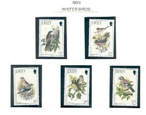 Jersey Sc 646-50 1993 Birds stamp set mint NH