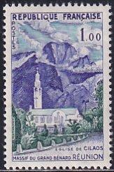 France 1960 Sc 949 Cilaos Church Reunion Massif Du Grand Benard Stamp MH