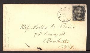 73, ROCHESTER, NY NOV/27, 1861-67 Issues