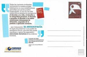 PS-172 ARGENTINA 2005 P STATIONARY PLAZA MAYO MOTHERS UNUSED