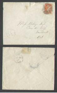 Canada #3233 - 3c Small Queen-fancy cancel-Oxford County-Kintore,Ont-Oc 22 1880-