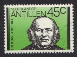 Netherlands Antilles 1980 used  Rowland Hill London 45ct   #