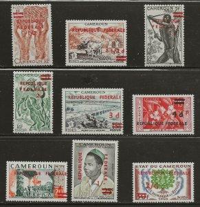 Cameroon (1961)  - Scott # 343 - 351,  MNH