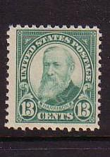 USA  Sc622 1926 13c Benjamin Harrison stamp mint NH