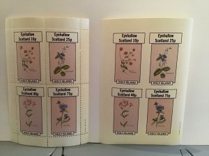 Eynhallow  Scotland Plants Flowers Speedwell   MNH  stamps  sheets R24503
