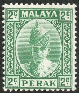 PERAK-1939 2c Green Sg 104 MOUNTED MINT V45265