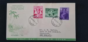 1950 Tonga Greymouth New Zealand Queen Salote First Day Illustrated  Cover