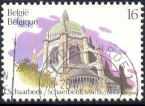 Church, Royal St. Mary's, Schaarbeek, Belgium SC#1556 used