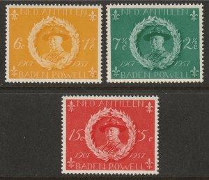 Netherlands Antilles 1957 Sc B28-30 set MNH**