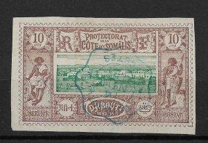 Somali Coast 1894, 10c, Scott # 11, VF Cancelled ! (YK-2)
