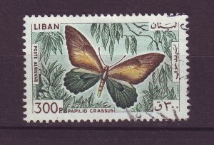 J24058 JLstamps 1965 lebanon hv of set used #c435 butterfly