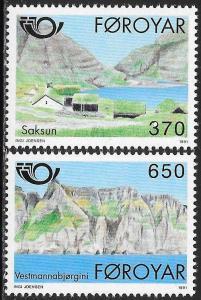 Faroe Islands 226-227 MNH - Village of Saksun