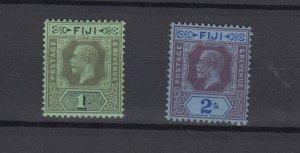 Fiji KGV 1912 1/- 2/- MH JK4858