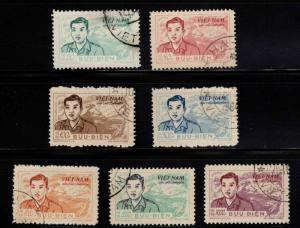 North Vietnam. o10-16  Used Official 1956 stamp set CV$225