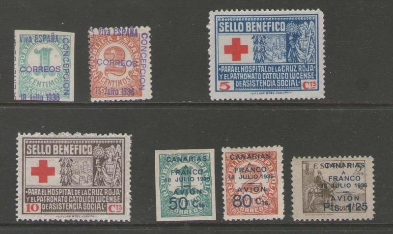 Spain 1936-39 civil war Selected Lot #g469