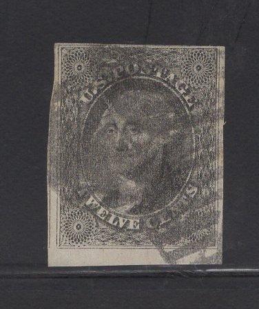 US Stamp Scott #17 12c Gray Black Washington USED SCV $250