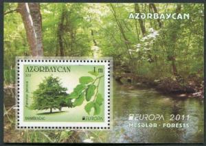 HERRICKSTAMP AZERBAIJAN Sc.# 947 Europa 2011 Forests S/S