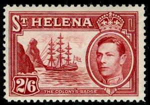 ST. HELENA SG138, 2s 6d maroon, LH MINT. Cat £20.