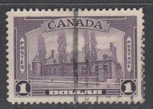 Canada Scott #245  $1.00 Chateau de Ramezay 1938 Pictorial  VF