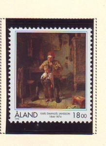 Aland Sc  129 1996 Jansson Painting stamp mint NH