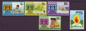 J24442 JLstamps 1972 ghana mnh set #445-9 book year