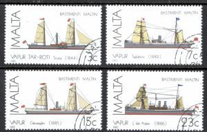 Malta Sc# 670-673 SG# 772/5 Used 1985 Ships