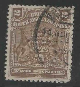 Rhodesia Scott 61 Used coat of arms stamp 1901