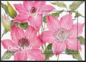GUERNSEY 2021 FLOWERS CLEMATIS GOLD BLUMEN FLEURS [#2103]
