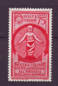 J21578 Jlstamps 1937 italy mh #372 bambino