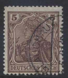 GERMANY -Scott 118- Germania Definitive - 1920 - FU Single 5pf Brown Stamp