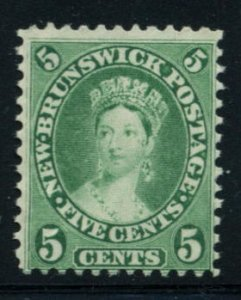 NEW BRUNSWICK: Sc.#8  **  5¢ Green, Fine NEVER HINGED example EXTREMELY RARE...